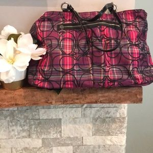 Coach Sparkle Plaid Tote